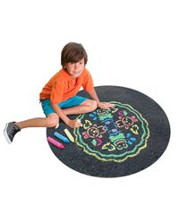 Alex Toys Active Play Garden Sidewalk Mandala with Jumbo Chalks, Multi Color