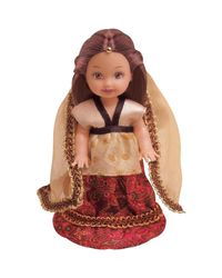 Barbie Kelly P6873 in India Doll, Multi Color