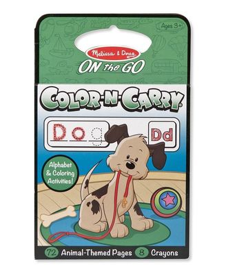 Melissa & Doug Color and Carry Coloring Book - Animals