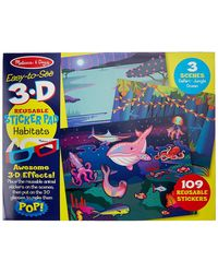 Melissa and Doug Easy to See 3D Habitats Puzzle, Multi Color