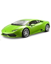 Bburago 1: 18 Lamborghini Huracan LP 610-4 Die Cast Car, (Green & Yellow)