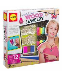 Alex Toys Diy Stitch & Wear Wood Jewelry, Age 8+