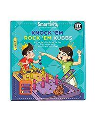 Smartivity Knock 'Em Rock 'Em Kubbs S. T. E. M. Educational D. I. Y. Toy