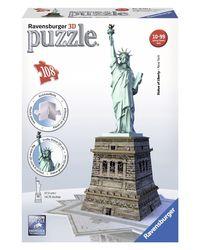 Ravensburger 3D Puzzles Statue of Liberty, Multi Color (108 Pieces)