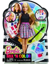 Barbie Mix N Color Spring Hair Feature Doll Assortment, Age 5+