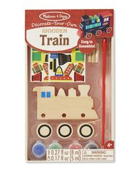 Melissa And Doug Diy Wooden Train - Created By Me, Age 4+