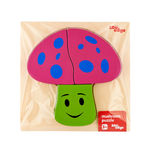 EDUedge Mushroom Puzzle• Made from high quality wood amd wood composite. • Coated with safe paints for children. • Smooth edges and corners. A tray with raised puzzle.