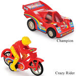 Min Toy Pull Back Combo Offer Of Champion With Crazy Rider (Color May Varry)
