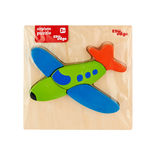 Airplane Puzzle• Made from high quality wood amd wood composite. • Coated with safe paints for children. • Smooth edges and corners. A tray with raised puzzle.
