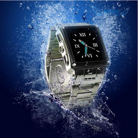Brand New watch phone Quad-bands stainless waterproof Wrist watch phone W818 with camera