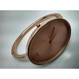 Imported CK Designer Bridal wear Golden Plated White Dial Bangle Style