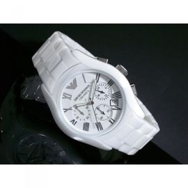 ARMANI STAINLESS STEEL CHRONOGRAPH WHITE 1527