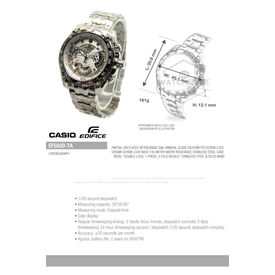 Casio Edifice EF-550D-1AV (ED391) Chronograph Black Dial Men s Watch