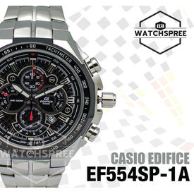 Casio Edifice Chronograph Black Dial Men s Watch - EF-554SP