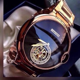 Cartier Baloon Rose Gold Blue Dial Automatic Men's Watch